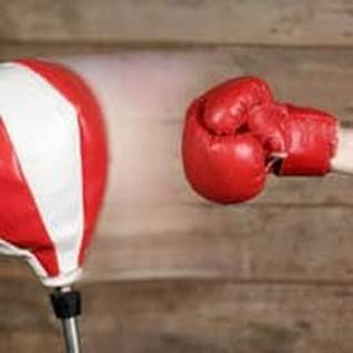 Boxing glove and punching bag