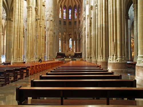 Interior of a church sanctuary