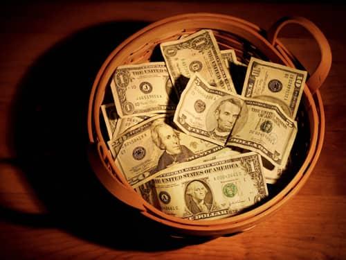 charity donation basket