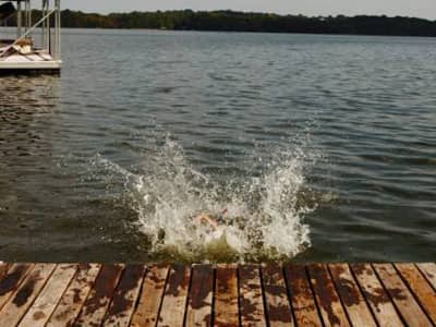 Water Splash on Dock