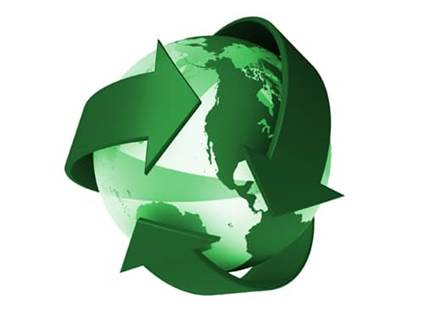 Green Recycle Earth Symbol