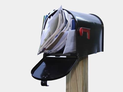 Overstuffed mail box