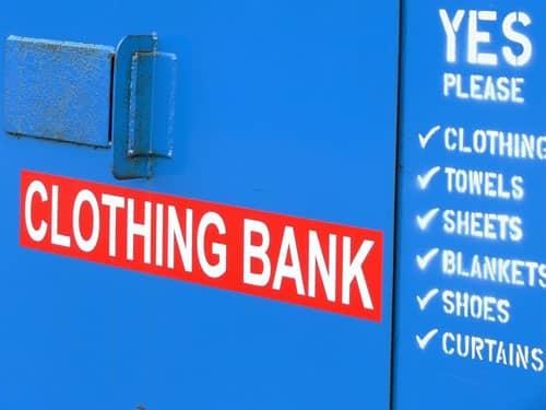 Clothing Bank, deposit charity
