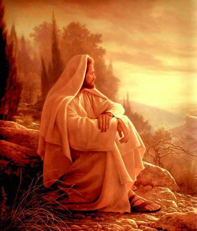 Jesus Sitting