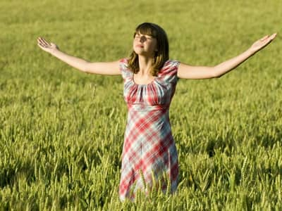 Prayer Girl in Field