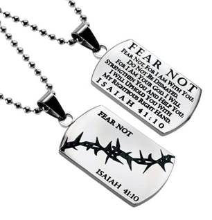 Fear Not Dog Tags