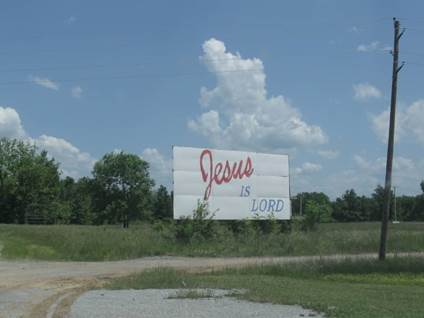 Jesus is Lord billboard