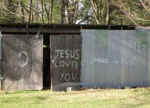Jesus Loves You in the country
