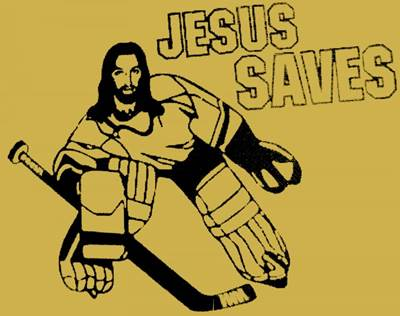 Jesus Saves goalie