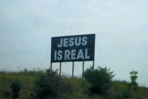 Jesus Is Real billboard