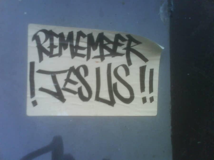 Remember Jesus sticker