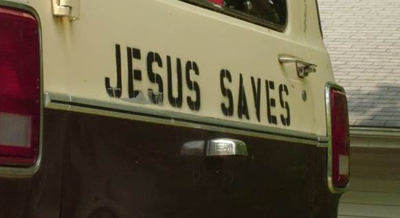 Jesus Saves truck