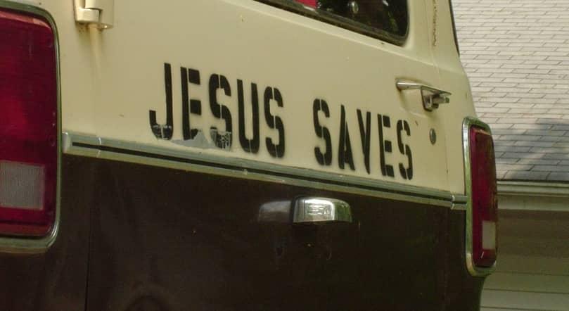 Jesus Saves truck