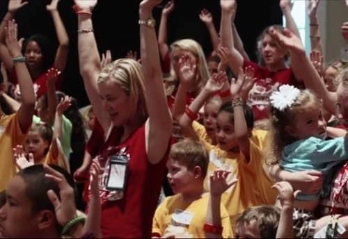 people raising hands