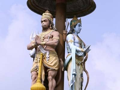 Hanuman and Ram Statues