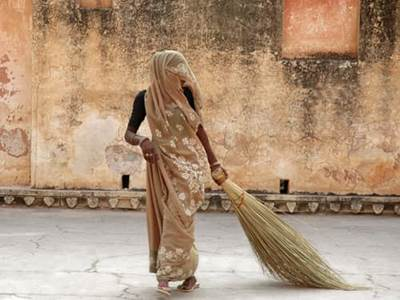 Helping Out broom mosque