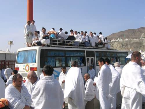 Hajj bus full of pilgrims