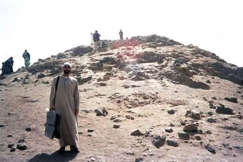 Mount Uhud, scene of a battle during the early days of Islam