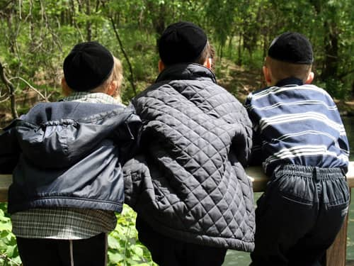 Jewish Children in a Park