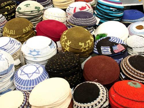 Assorted kipas yarmulkes