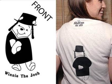 Winnie the Jooh Jewish tshirt