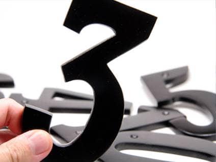 A big number 3