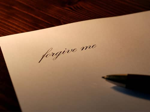 Forgive Me Note