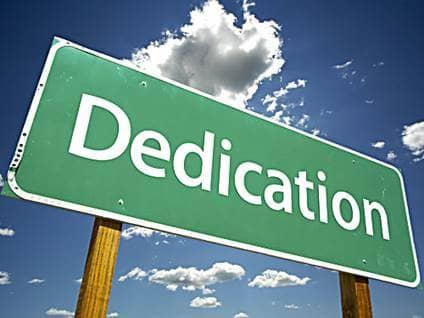 Sign dedication