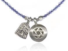 Jewish double pendant necklace