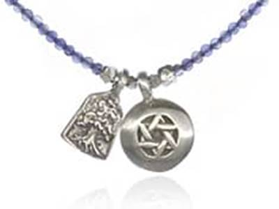 Jewish double pendant necklace