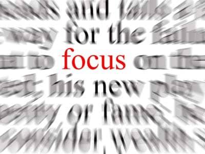 Text in focus