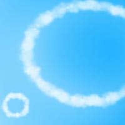 Toxic thoughts cloud rings blue