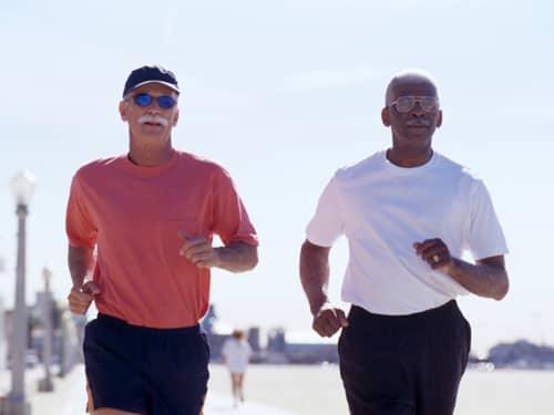 Older men jogging