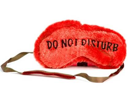 Do not disturb face mask for sleeping