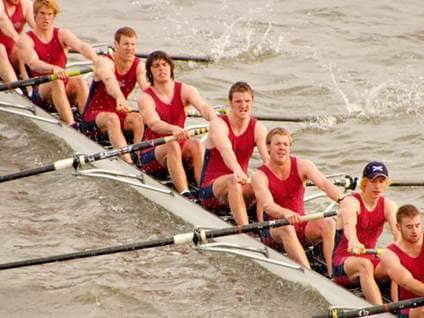 Crew boat rowers