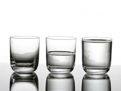 Glasses half empty or full