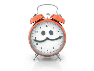 Clock with eyes on face