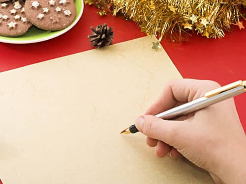 writing Christmas letter