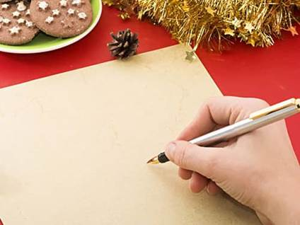 writing Christmas letter