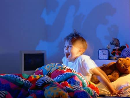 Boy Waking from Nightmare