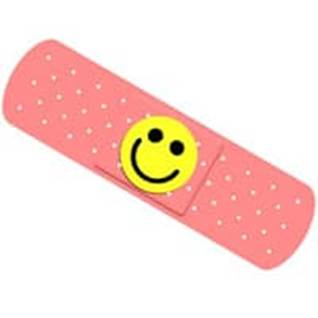 smiley pink band-aid