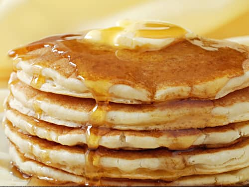Pancakes with syrup, comfort food