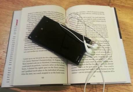 book and phone