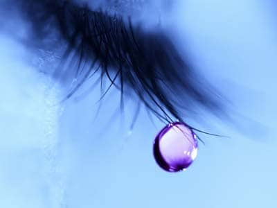 Close up of a tear