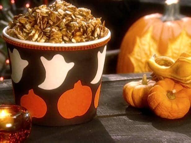 carmelized pumpkin seeds