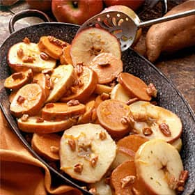 baked apples and sweet potatoes
