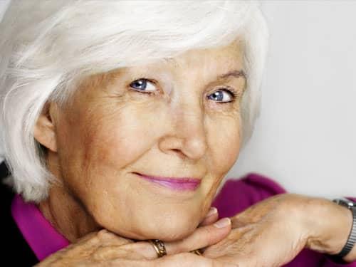 Graceful aging woman