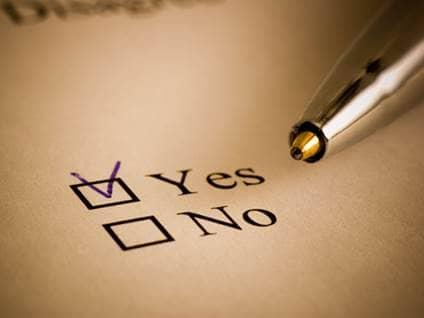 Pen choosing yes