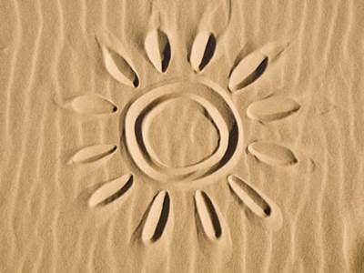 A sun in the sand