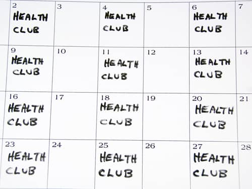 Healthy calendar